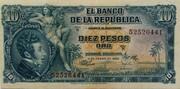 10 Pesos Oro – obverse