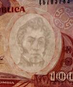 100 Pesos Oro -  obverse