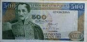 500 Pesos Oro – obverse