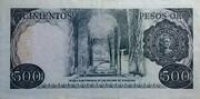 500 Pesos Oro – reverse