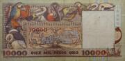 10000 Pesos Oro – reverse