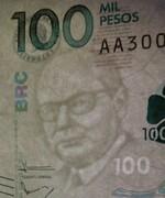 100,000 Pesos -  obverse