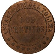 2 Centavos (Tolima) – reverse