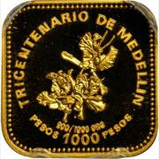 1000 Pesos (300th Anniversary of Medellin) – reverse