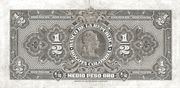 ½ Peso Oro – reverse