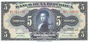 5 Pesos Plata – obverse