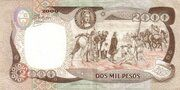 2 000 Pesos -  reverse
