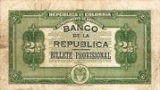 2½ Pesos (Overprint) – reverse