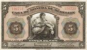 5 Pesos (Overprint) – obverse