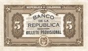5 Pesos (Overprint) – reverse