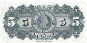 5 Pesos Plata – reverse