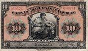 10 Pesos (Overprint) – obverse