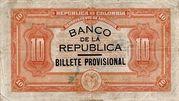10 Pesos (Overprint) – reverse