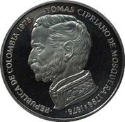 750 Pesos (Tomas Cipriano de Mosquera) – obverse