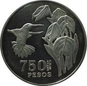 750 Pesos (Tomas Cipriano de Mosquera) – reverse