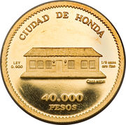 40 000 Pesos (Alfonso Lopez-Pumarejo) – reverse