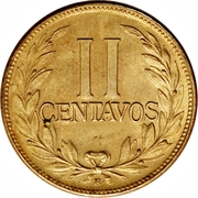 2 Centavos (divided legend) -  reverse