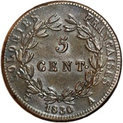 5 Centimes - Charles X – reverse