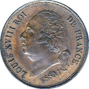 5 Centimes - Louis XVIII (Essai) – obverse