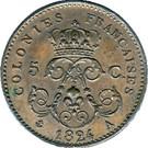 5 Centimes - Louis XVIII (Essai) – reverse