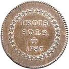 3 Sols - Louis XVI – reverse