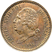 10 Centimes - Louis XVIII (Essai) – obverse