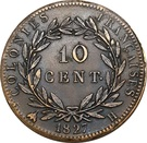 10 Centimes - Charles X – reverse