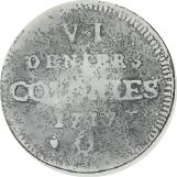 6 Deniers - Louis XV – reverse