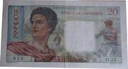 20 Francs (Tahiti) – obverse
