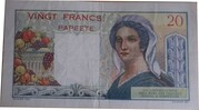 20 Francs (Tahiti) – reverse
