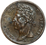 5 Centimes - Charles X -  obverse