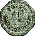 1 Franc (Société Anonyme Token Coinage) – reverse