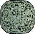 2 Francs (Société Anonyme Token Coinage) – reverse
