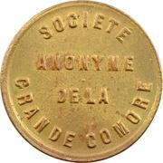 50 Centimes (Société Anonyme Token Coinage; Brass) – obverse