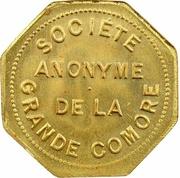 1 Franc (Société Anonyme Token Coinage; Brass) – obverse