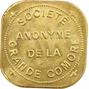2 Francs (Société Anonyme Token Coinage; brass) – obverse