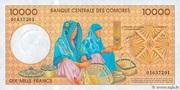 10000 francs – reverse
