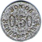 50 Centimes (Société Anonyme Token Coinage) – reverse