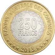 250 Francs (Central Bank) – reverse