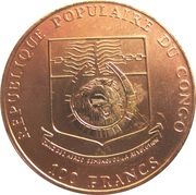 100 Francs (Congolese Peacock) – obverse