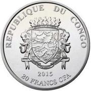 20 Francs CFA (Teke) – obverse