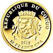 50 Francs CFA (Teke) – obverse