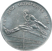100 Francs CFA (1992 Summer Olympic Games) – reverse