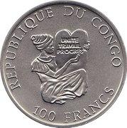 100 Francs (Junkers JU52) – obverse