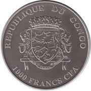 1000 Francs CFA (Rhinoceros) -  obverse