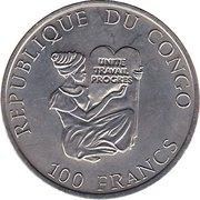 100 Francs (Spinosaurus) – obverse