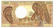 5,000 Francs -  obverse