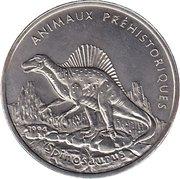 100 Francs (Spinosaurus) – reverse