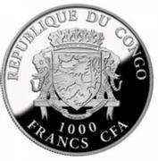 1000 Francs CFA (Year of the Rooster) – obverse