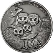 2000 Francs CFA (Meerkats) -  reverse